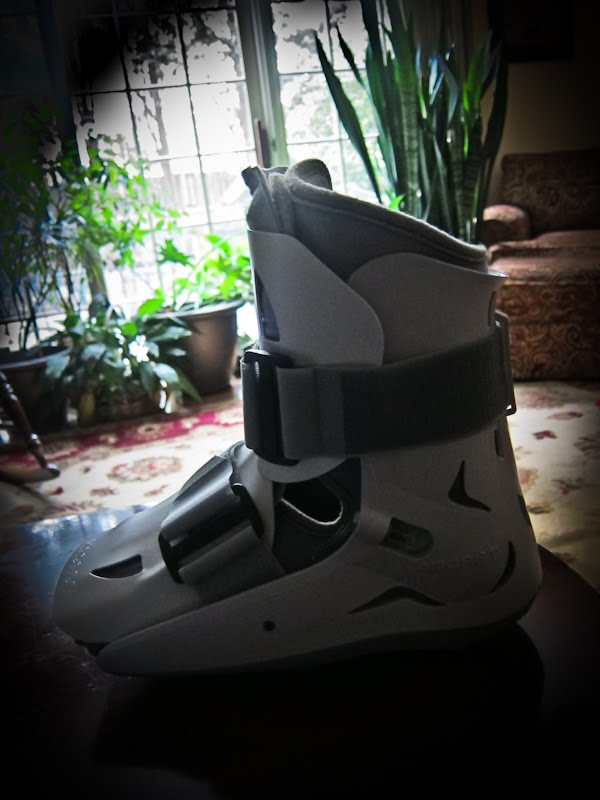 broken foot boot
